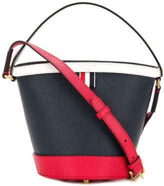 Thom Browne Fun Mix Leather Sand Bucket Bag