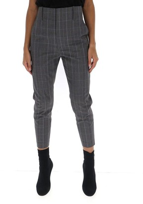Etoile Isabel Marant Cropped Plaid Trousers
