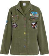 Mira Mikati Scout Appliquéd Cotton-canvas Shirt - Army green