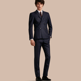 Burberry Slim Fit Double-breasted Pinstripe Wool Suit