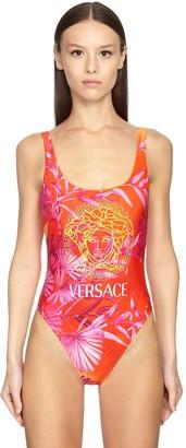 Versace Medusa Print Lycra One Piece Swimsuit
