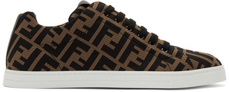 Fendi Brown and Black Forever Sneakers