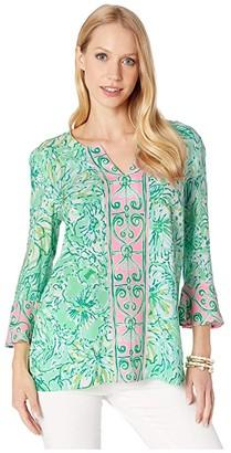 Lilly Pulitzer Keona Tunic (Resort Aqua Hopelessly Devoted Engineered) Women's Clothing