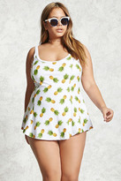 Forever 21 FOREVER 21+ Plus Size Pineapple Swim Dress