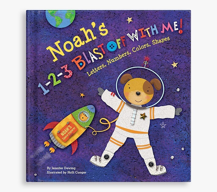 Thumbnail for your product : Pottery Barn Kids 1-2-3 Blast Off with Me! Personalized Book