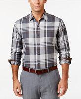 Tasso Elba Men's Plaid Long-Sleeve Shirt, Classic Fit