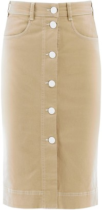 See by Chloe Button-Up Pencil Skirt