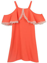 Rare Editions Girls 7-16 Cold Shoulder Crepe Dress