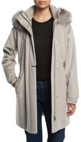 Loro Piana Icery Cashmere Storm System® Ski Jacket with Fox Fur