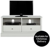 Consort Furniture Limited Dover Ready Assembled Grey TV Unit - Fits Up To 48 Inch TV