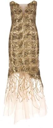 Ermanno Scervino Golden Midi Mermaid Dress