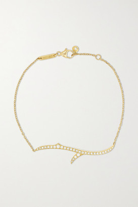 Stephen Webster + Net Sustain Thorn Stem 18-karat Recycled Gold Diamond Bracelet - one size