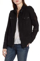 Pam & Gela Women's Studded Twill Jacket