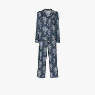 Desmond & Dempsey Howie pineapple print pyjama set