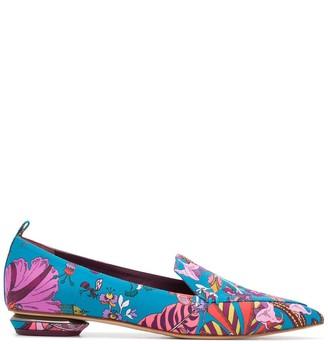 Nicholas Kirkwood BEYA Fantasy Land-print loafers