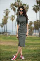 Shabby Apple Dana Fitted Sheath Grey Dress