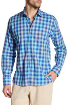 Toscano Plaid Linen Regular Fit Shirt