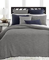 Hotel Collection Linen Navy Quilted Standard Sham