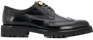 Versace Medusa embossed button brogues