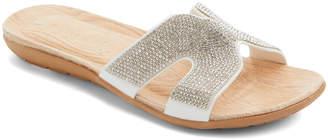 Ameta Women's Sandals White - White Glitter-Embellished Eva Slide - Women