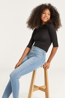 Ardene Buttoned High Rise Jeggings