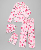 Dollie & Me Pink Snowman Pajama Set & Doll Outfit - Girls