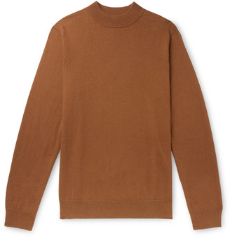 NN07 Martin Cotton And Cashmere-Blend Mock-Neck Sweater