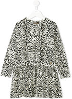 Roberto Cavalli leopard print dress - kids - Cotton/Spandex/Elastane/Modal - 3 yrs