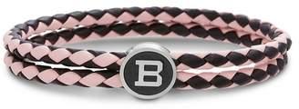 Ben Sherman Braided Leather Logo Bracelet