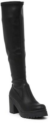 Madden-Girl Coretta Knee High Lug Sole Boot