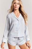 Forever 21 Striped Satin PJ Set