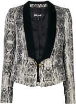 Just Cavalli snakeskin print dinner jacket
