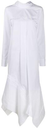 Jil Sander Asymmetric Long-Sleeve Dress