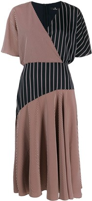 Paul Smith striped wrap dress