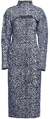 3.1 Phillip Lim Herringbone Jacquard Removable Shrug Knit Midi Dress