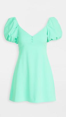 Alice + Olivia Dana Puff Sleeve Flare Dress