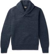 Rrl - Shawl-collar Mélange Cotton Sweater
