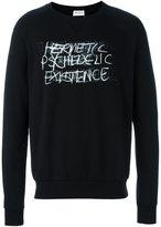 Saint Laurent 'Hermetic Psychedelic Existence' sweatshirt