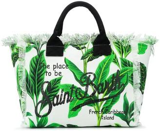 MC2 Saint Barth Leaf Logo Print Beach Bag