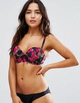 Pour Moi? Pour Moi Glamo Camo Strapless Padded Underwired Bikini Top