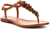 Jessica Simpson Kiandra Flat T-strap Sandal with Floral Details