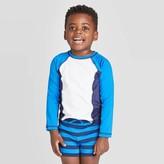 Cat & Jack Toddler Boys' Raglan Long Sleeve Pieced Rash Guard Swim Shirt - Cat & JackTM