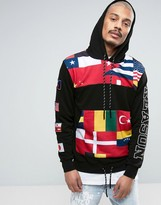 Reason Hoodie With Flag Print