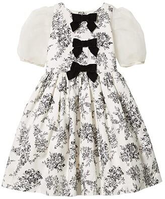 Janie and Jack Floral Dress (Toddler/Little Kids/Big Kids) (White) Girl's Dress