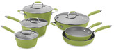 Fagor Michelle B by 10-Piece Forged Aluminum Cookware Set - Lemon-Lime