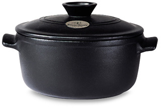Emile Henry Flame Top 4.2-Quart Black Covered Casserole