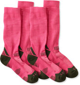 L.L. Bean Women's All-Sport PrimaLoft Socks, Lightweight Crew Two-Pack