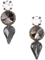 Love Rocks Black & Gray Crystal Trio Drop Earrings