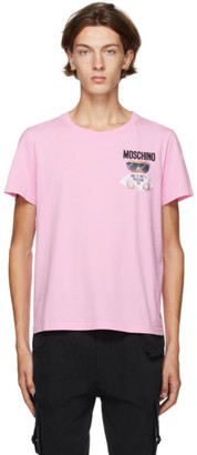 Moschino Pink Embroidered Micro Teddy Bear T-Shirt