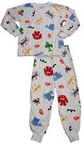 Sara's Prints Little Boys Long Sleeve Pajamas